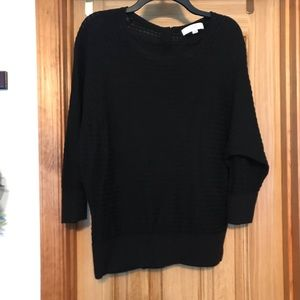 Loft Ann Taylor Waffle Knit 3/4 Sleeve Sweater